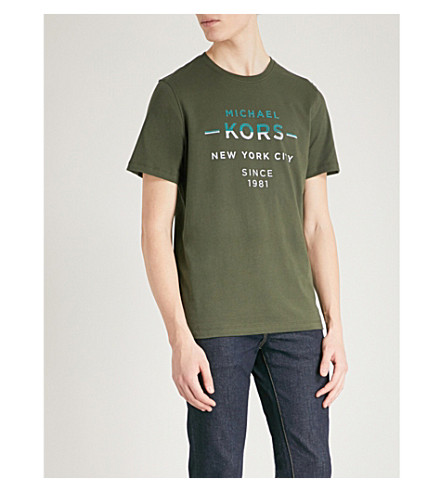 MICHAEL KORS Double Take cotton-jersey T-shirt (Fatigue