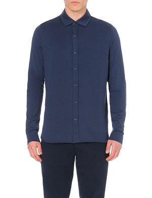 MICHAEL KORS Birdseye regular-fit cotton shirt