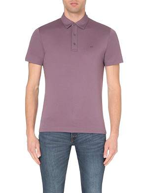 MICHAEL KORS Slim-fit cotton-jersey polo shirt