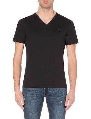 MICHAEL KORS V-neck cotton-jersey t-shirt