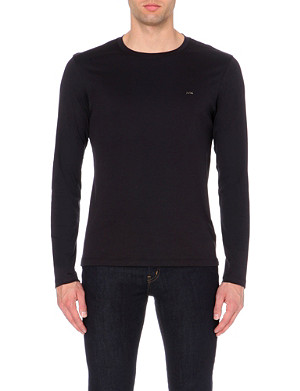 MICHAEL KORS Long-sleeved cotton-jersey t-shirt