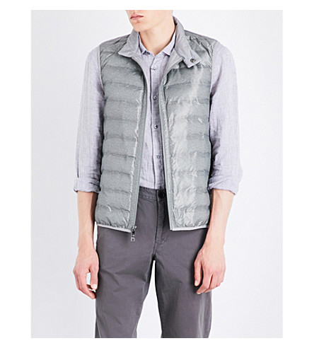 MICHAEL KORS Textured-print quilted vest (Ivy+green