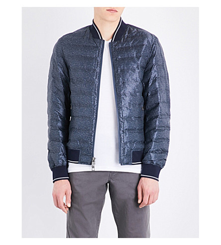 MICHAEL KORS Textured quilted bomber jacket (Midnight