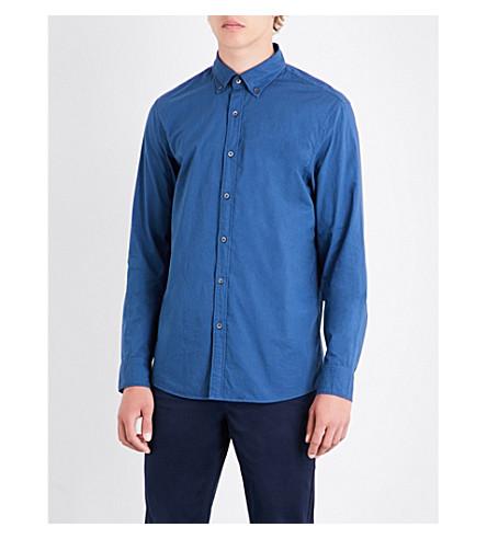 MICHAEL KORS Slim-fit button-down cotton shirt (Denim
