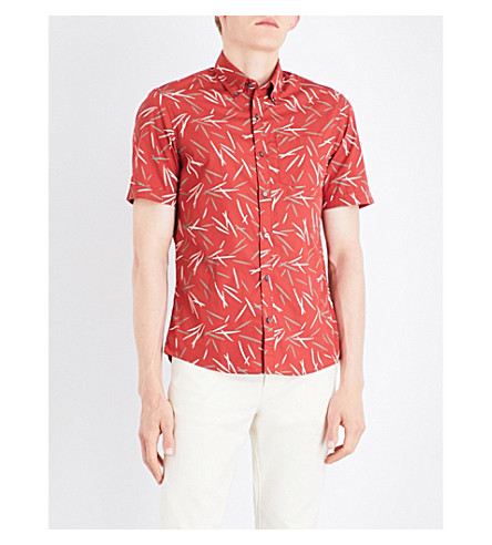 MICHAEL KORS Bamboo-print cotton shirt (Paprika