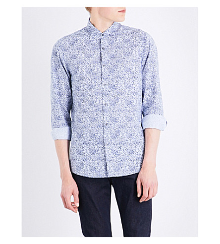 MICHAEL KORS Charles-print cotton shirt (Denim
