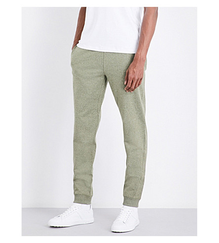 MICHAEL KORS Marl stretch-cotton jogging bottoms (Ivy+jaspe