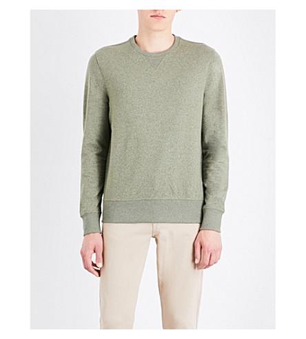 MICHAEL KORS Crewneck stretch-cotton sweatshirt (Ivy+jaspe