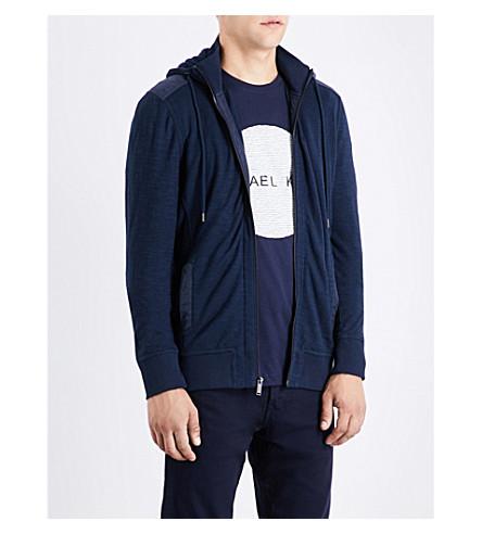 MICHAEL KORS Contrast-panel cotton hoody (Midnight