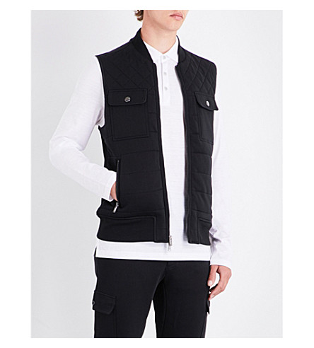 MICHAEL KORS Regular-fit knitted quilted gilet (Black