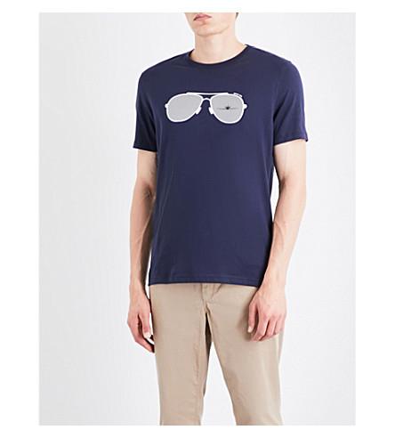 MICHAEL KORS Aviator cotton-jersey T-shirt (Midnight