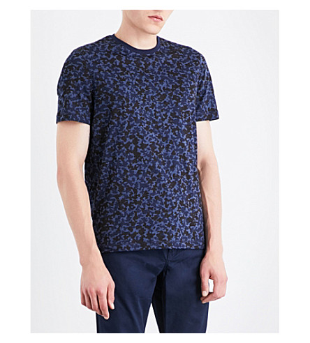 MICHAEL KORS Camouflage-print cotton-jersey T-shirt (Midnight
