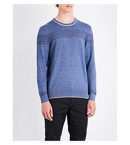 MICHAEL KORS Crewneck cotton sweater (Denim