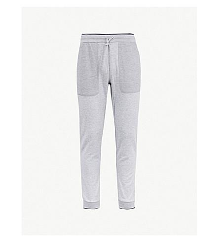 MICHAEL KORS 条纹修剪棉混合慢跑裤 (石楠 + 灰色