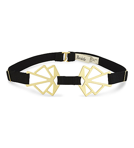BORDELLE Geometric choker (Black