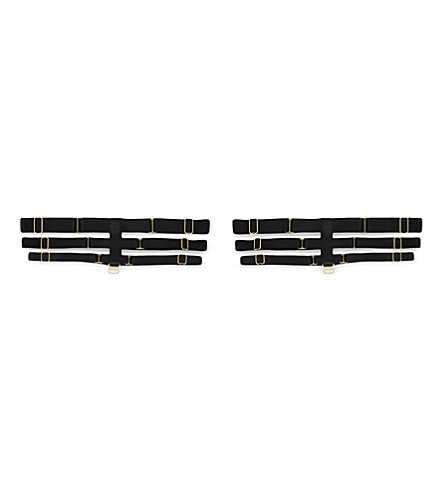 BORDELLE Art Deco garters (Black