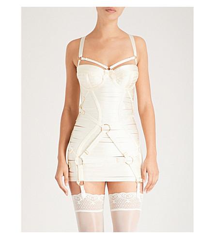 BORDELLE Bondage Angela satin dress Cream Sale Low Price Fee Shipping Choice Online Limited New Outlet Nicekicks Av9Mwfit9d