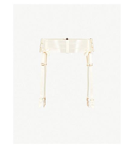 BORDELLE Harness satin suspender belt (Cream