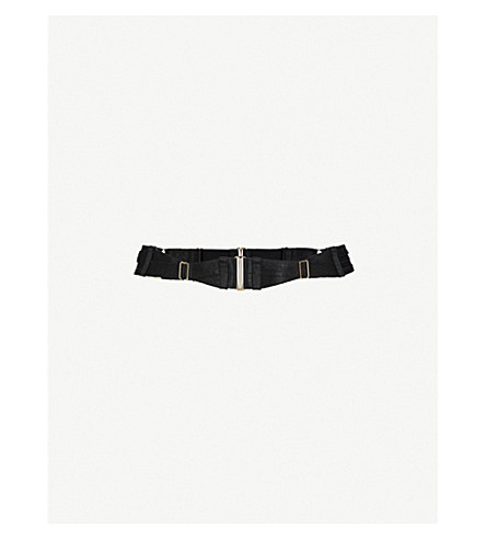 BORDELLE Orbit adjustable suspender belt (Black