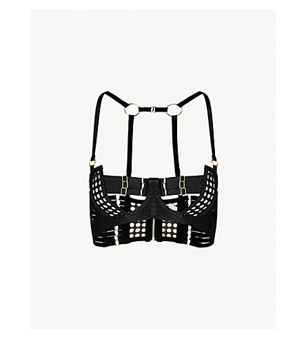 BORDELLE Orbit mesh bodice bra (Black