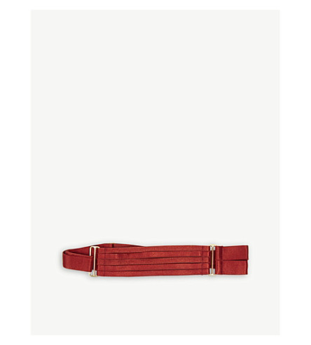 BORDELLE 24ct gold double strap garters (Red