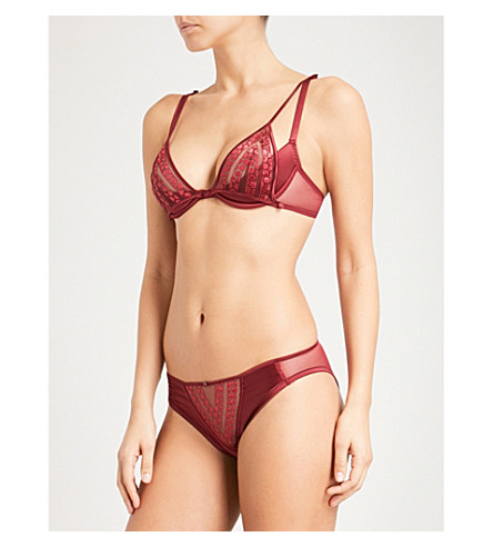 IMPLICITE Gravity Explicite mesh and satin underwired bra (Kir