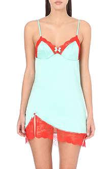 L'AGENT BY AGENT PROVOCATEUR Marisela stretch-crepe chemise