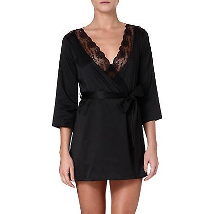 L'AGENT BY AGENT PROVOCATEUR Marisela stretch-crepe robe (Black