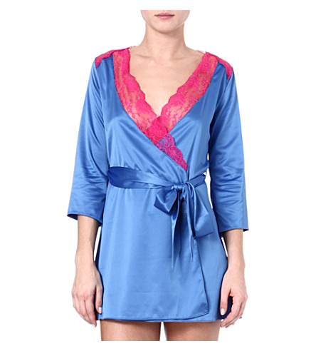 L'AGENT BY AGENT PROVOCATEUR Marisela stretch-crepe robe (Corn/fuchsia