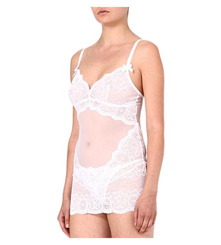 L'AGENT BY AGENT PROVOCATEUR Vanesa lace slip (White