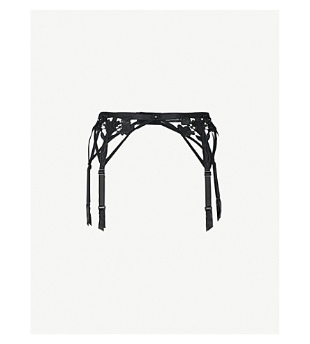 BLUEBELLA Nova corded lace suspender belt (Black