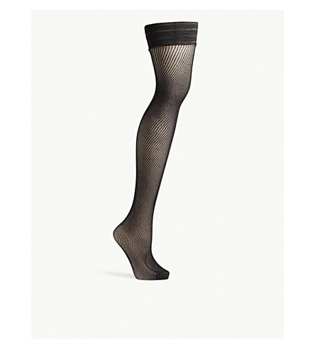 BLUEBELLA Fishnet stretch hold-ups (Black