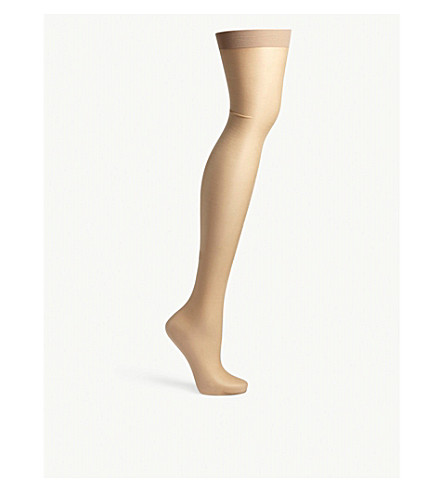 BLUEBELLA Solid top stretch stockings (Nude