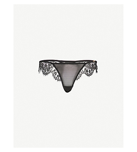 BLUEBELLA Marina lace thong (Black