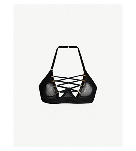 COCO DE MER 水母网挂脖胸罩 (黑色