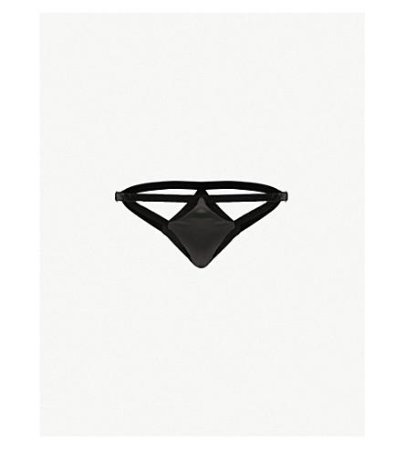COCO DE MER Persephone silk-satin bikini briefs (Black