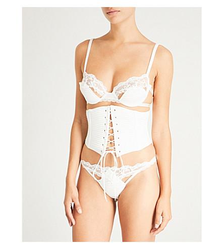 PALINDROME Chimera satin corset (Bright+white
