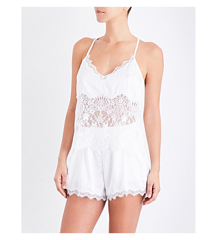 PALINDROME Starling lace camisole (Snow+white