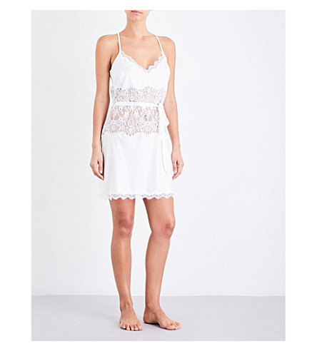 PALINDROME Starling lace chemise (Snow white