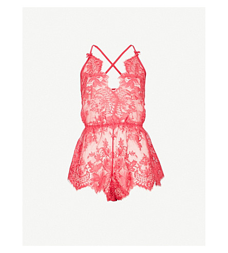 PALINDROME Birdie lace playsuit (Azalea