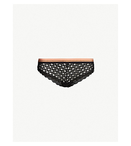 LIVY Bayside lace briefs (Black