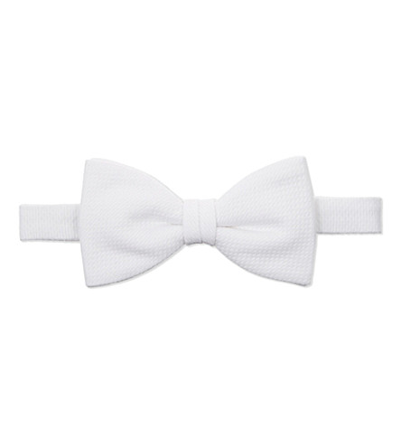 GIEVES & HAWKES Marcella ready-tied cotton bow (White
