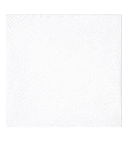 GIEVES & HAWKES Solid silk handkerchief (White