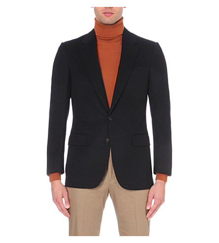 GIEVES & HAWKES Cashmere blazer jacket (Dark+navy