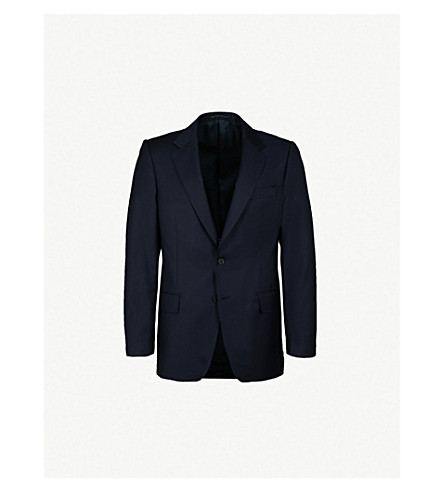 GIEVES & HAWKES Regular-fit wool jacket (Navy