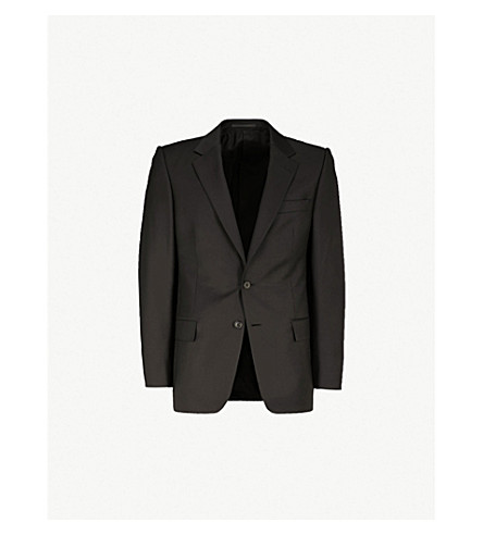 GIEVES & HAWKES Regular-fit twill jacket (Black