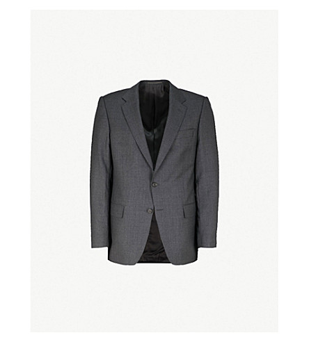 GIEVES & HAWKES Regular-fit wool blazer (Charcoal