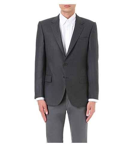 GIEVES & HAWKES Regular-fit wool jacket (Charcoal