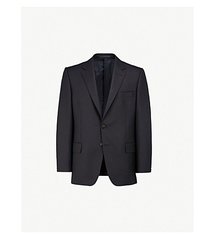 GIEVES & HAWKES Regular-fit wool jacket (Navy