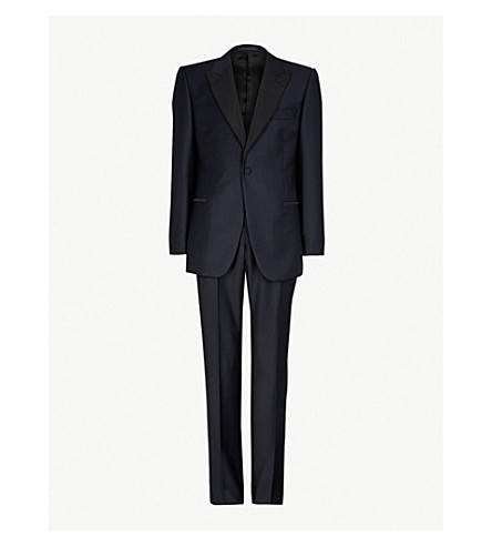 GIEVES & HAWKES Regular-fit wool dinner suit (Dark+navy